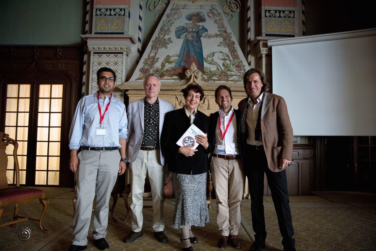TIGE Caux Booklaunch Integral Green Slovenia 2016 07 07 Lauch Photo Piciga Lessem Schieffer with Organizers