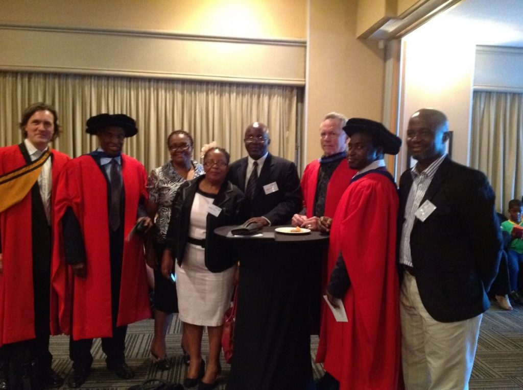 Graduation in November 2012, with Academic and Field Supervisors Prof. Lessem and Prof. Schieffer and Fellow Graduates from Zimbabwe