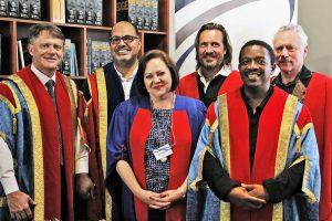Prof Ben Anderson, Prof Edward Chr. Kieswetter, Dr Ronel Blom, Prof Alexander Schieffer, Mr Sechaba Motsieloa, Prof Ronnie Lessem