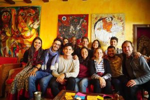 Trans4m Junior Fellows together with Students from Erasmus University Rotterdam, Trans4m Co-Founder Alexander Schieffer and Theatre of Transformation Founder Rama Mani
