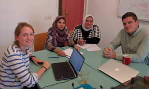 The core members of the research ecosystem: Annina Hunziker (left), Thoraya Seada, Dalia Abdou, Maximilian Abouleish-Boes