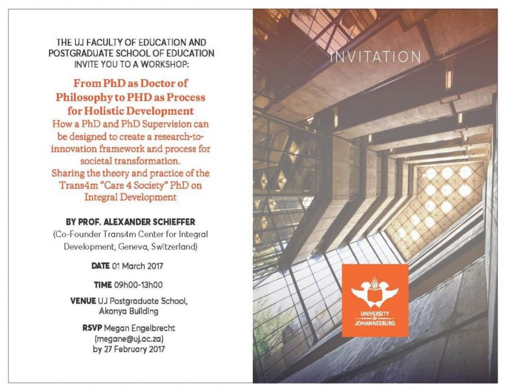 2017 03 01 Invitation for Workshop UJ March 1
