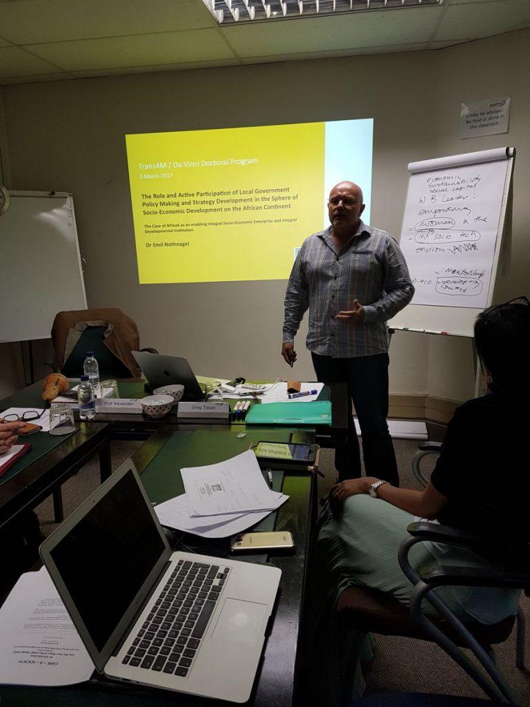 2017 03 04 PhD Module Johannesburg Cohort 4 Emil Nothnagel Presentation