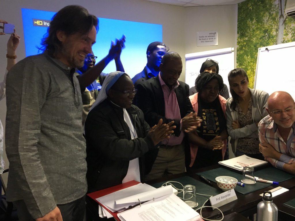 2017 03 04 PhD Module Johannesburg Cohort 4 Group with Ronnie 1