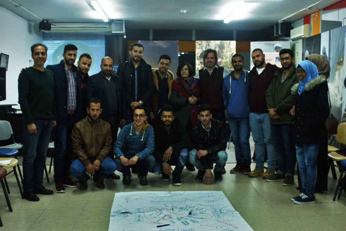 2017 04 02 Ramallah Workshop Sharek Group 1 with Zahira Kamal