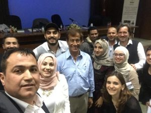 2017 04 05 Jordan Irbid Yarmouk University Small Group Adel Rasheed Laila Abdul Majeed