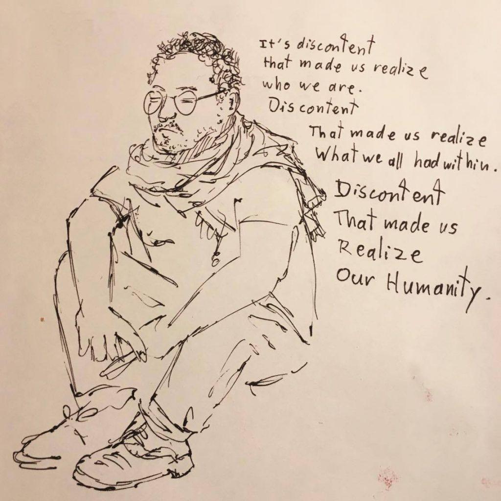 2017 04 11 Abdallah drawing by Victor Morgan