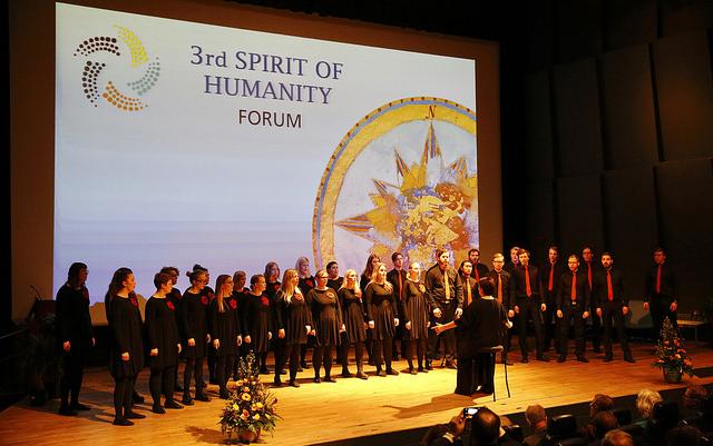2017 04 Spirit of Humanity Forum Reykjavik Reception Opening Choir 1