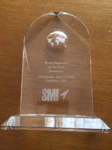 Passmore Matupire 2017 SMI World Motivator Award