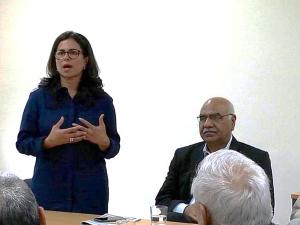 Aneeqa Malik with Akhuwat Founder, Dr. Amjad Saqib