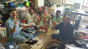 With my Akhuwat family at Akhuwat Clothes Bank – an initiative that supports Transgender community of Pakistan
