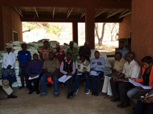 Members of the Business Council for Sustainable Development Zimbabwe (BCSD) discussing business inclusivity and sustainable agriculture with Mamina Irrigation Scheme small scale farmers in Mhondoro Zimbabwe