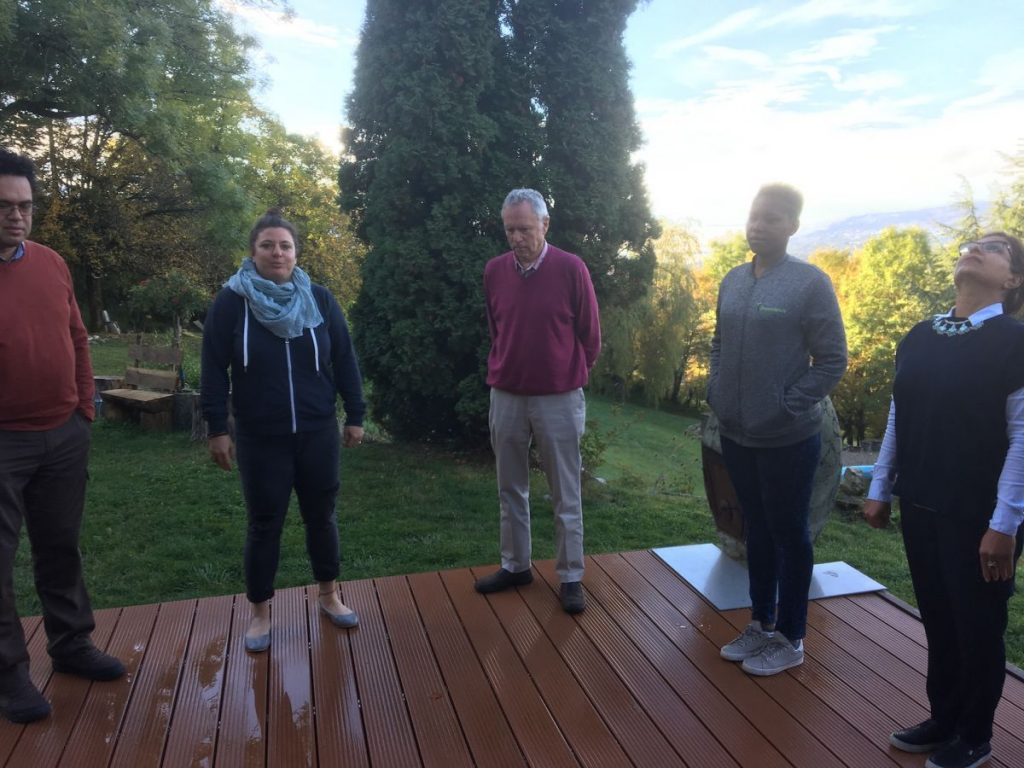 2017 10 Induction PhD PHD Hotonnes Cohort 6 Group Exercise Somatics 1