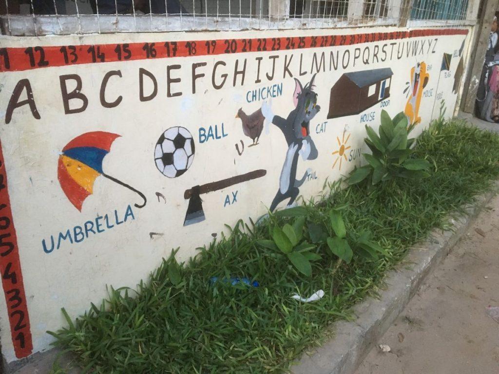 2018 03 18 Tanzania Kigamboni KCC School Graffiti 1