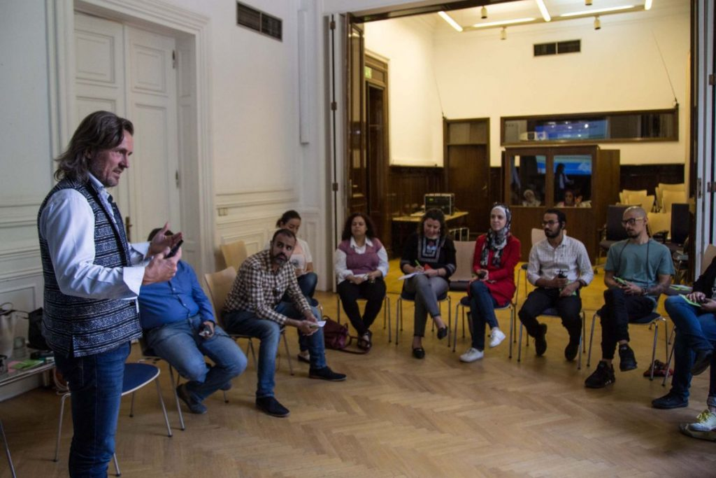 2018 06 08 Cairo Goethe Tahrir Lounge Workshop Alexander Audience 4