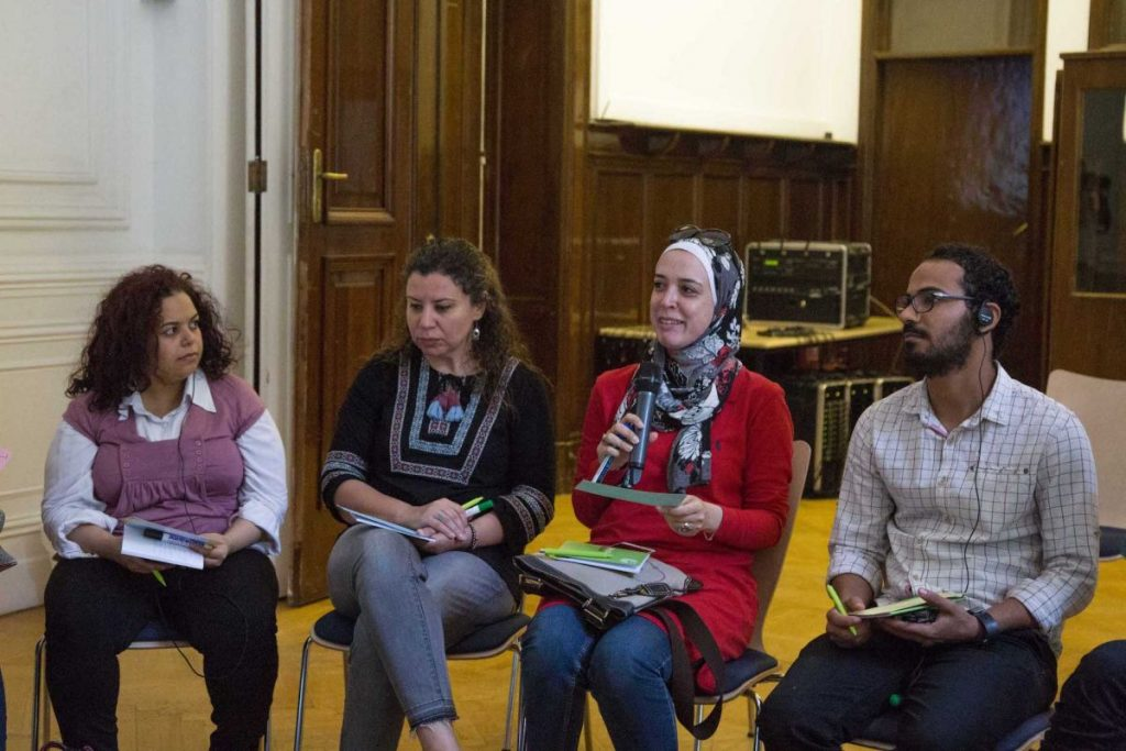 2018 06 08 Cairo Goethe Tahrir Lounge Workshop Audience 1