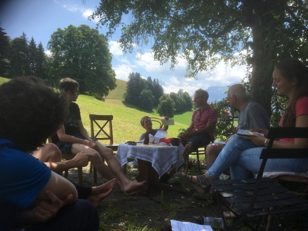 2018 06 18 Switzerland Beatenberg Education Retreat Groupwork Outdoor 2