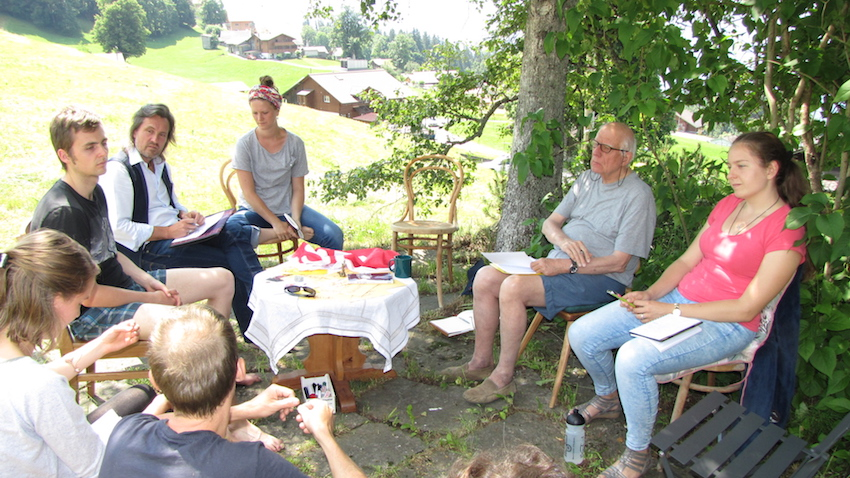 2018 06 18 Switzerland Beatenberg Education Retreat Outdoor Work Group