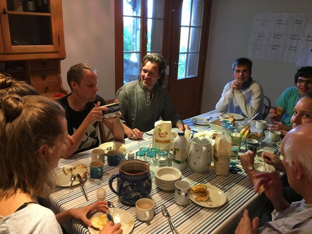 2018 06 18 Switzerland Beatenberg Education Retreat Sharing Food 1