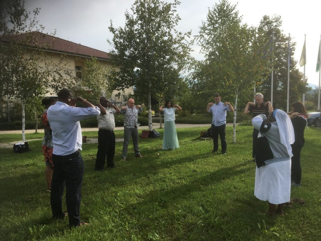 2018 09 11 Slovenia BC Naklo PhD Module Cohort 5 Morning Gymnastics