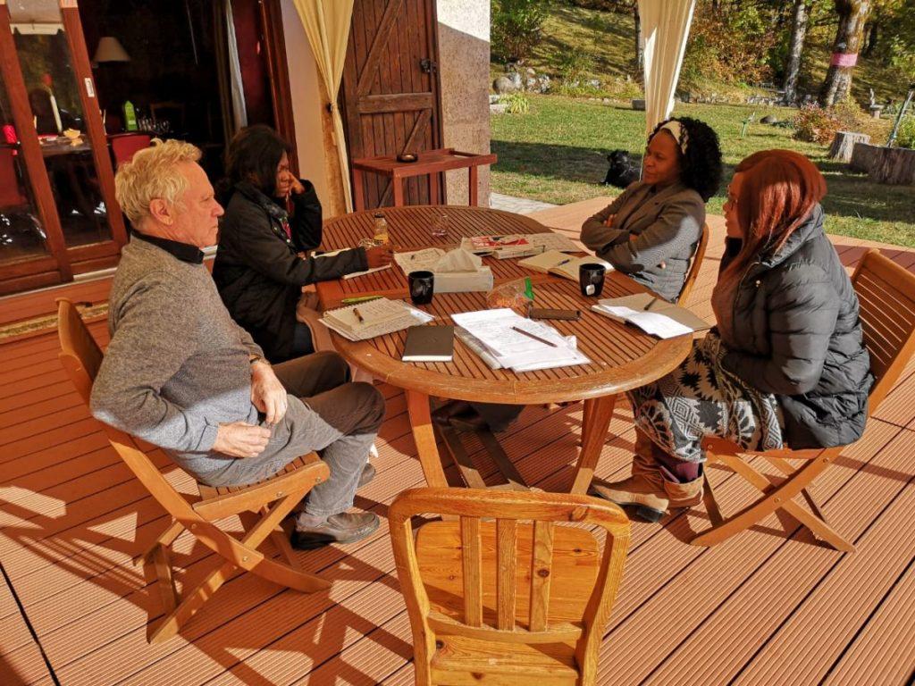 2018 10 05 Trans4m PhD Program Induction Hotonnes - Discussion on Terrace