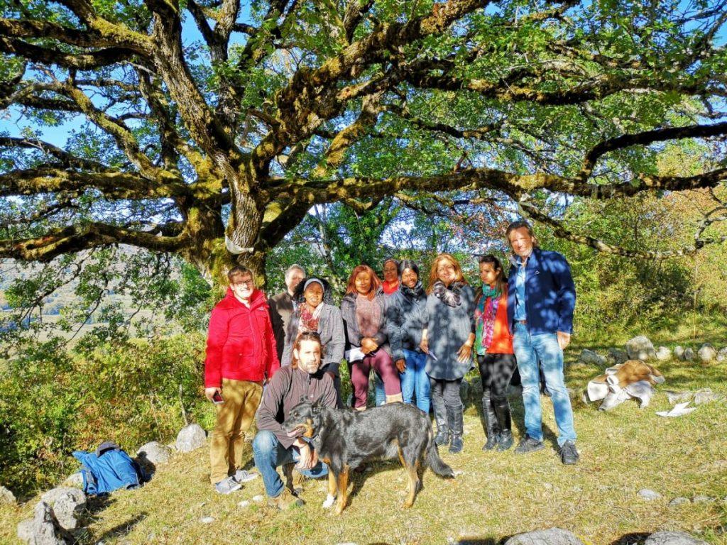 2018 10 05 Trans4m PhD Program Induction Hotonnes - Good Group Pic at Oak