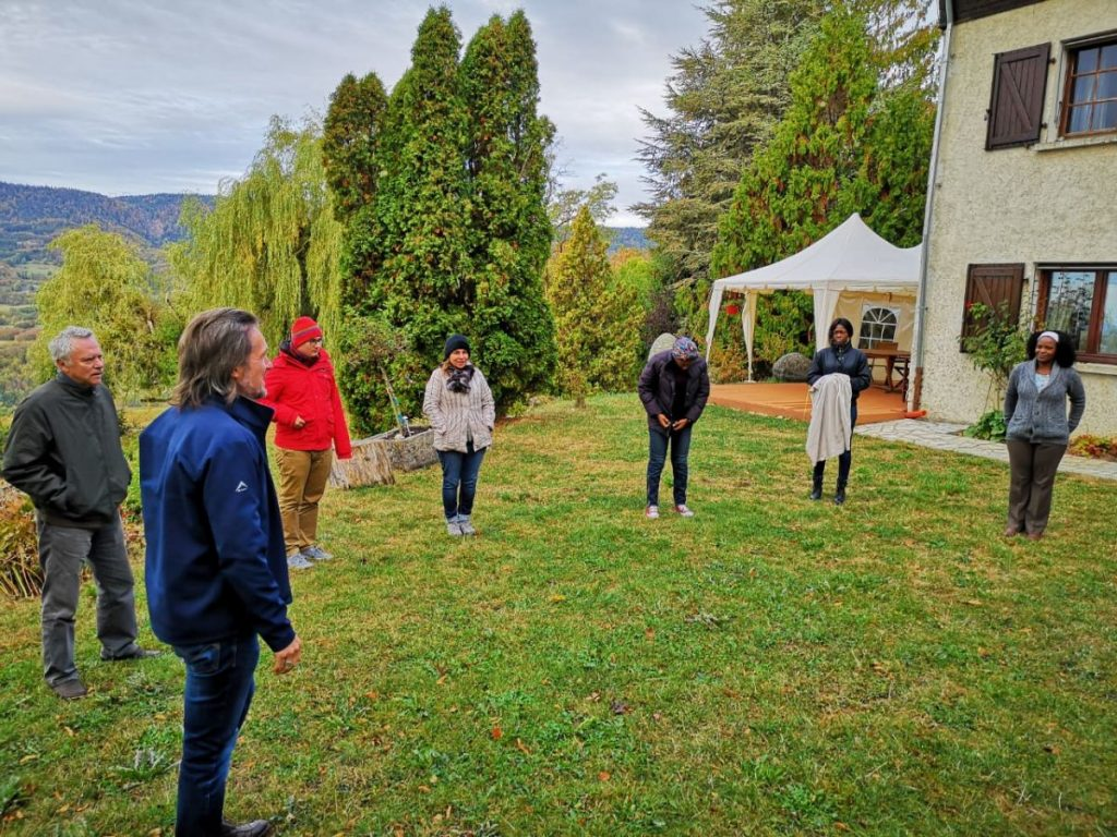 2018 10 05 Trans4m PhD Program Induction Hotonnes - Group Outdoor Exercise 1