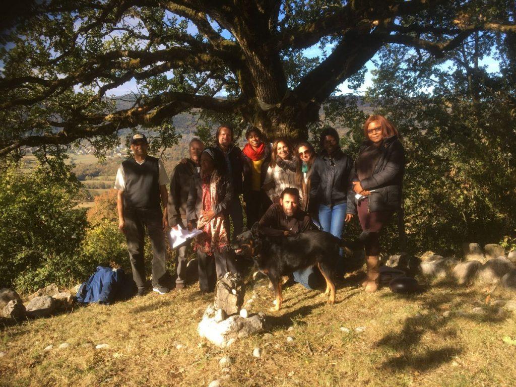 2018 10 05 Trans4m PhD Program Induction Hotonnes - Group Picture at Oak