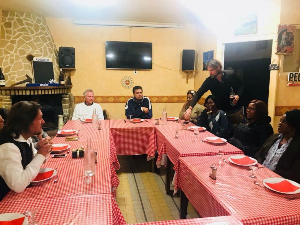 2018 10 05 Trans4m PhD Program Induction Hotonnes - Group Restaurant Coqain