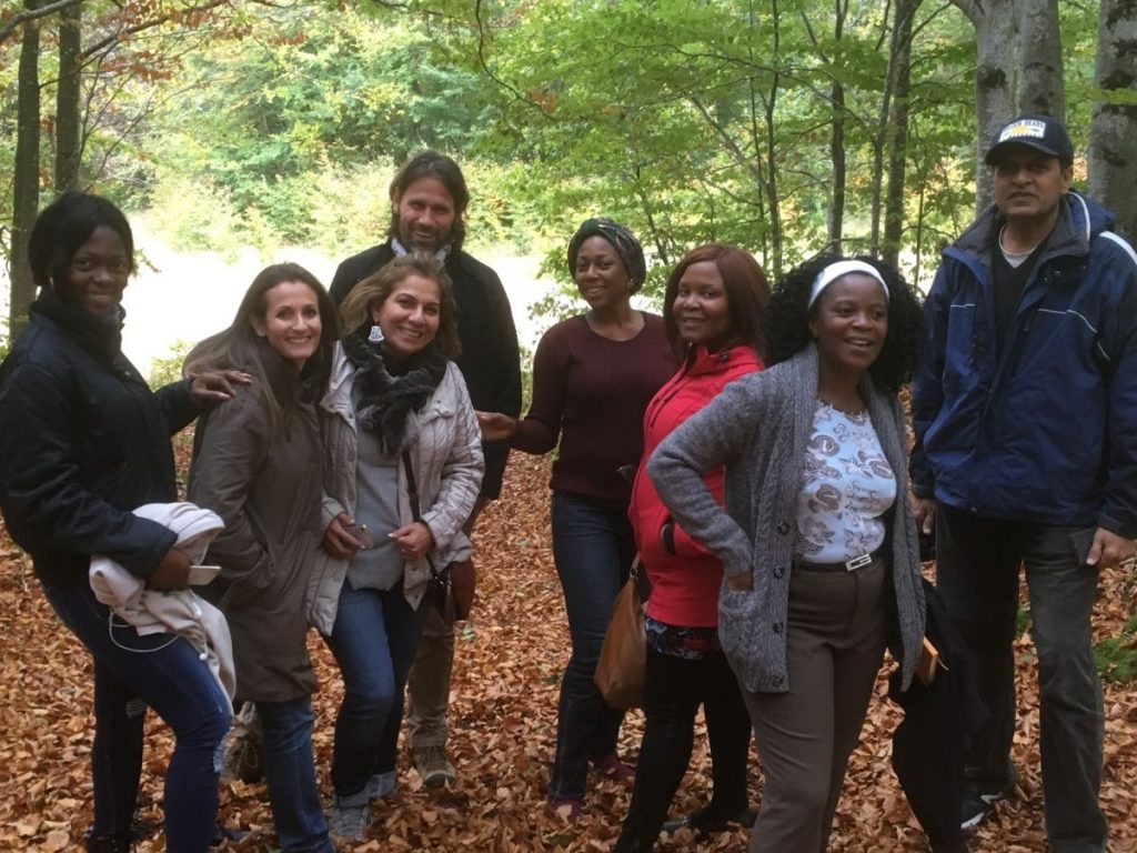 2018 10 05 Trans4m PhD Program Induction Hotonnes - Group in Nature Forest 2