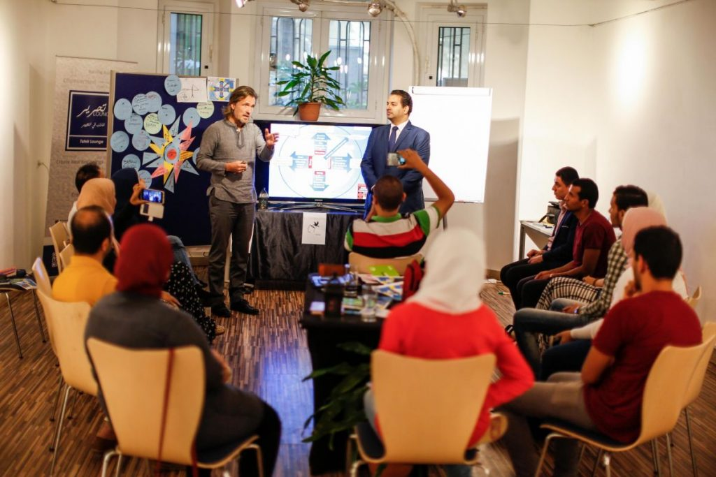 2018 10 20 Cairo Goethe Tahrir Workshop Participants Alexander Mohamed 2