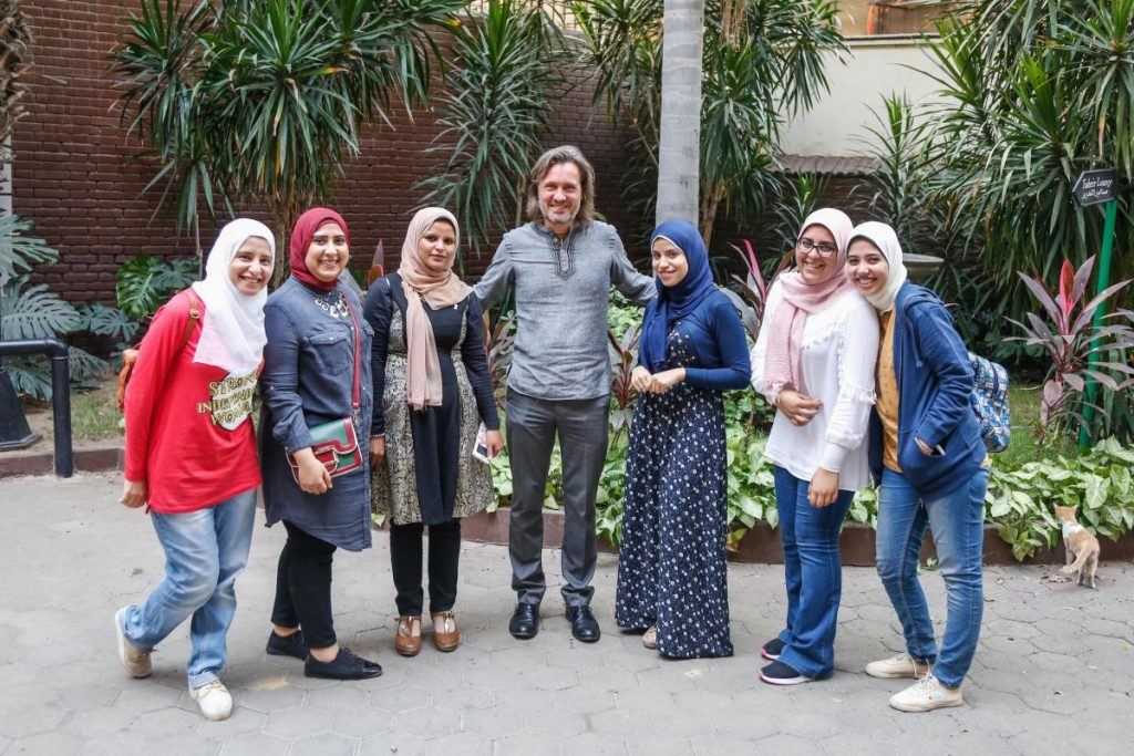 2018 10 20 Cairo Goethe Tahrir Workshop Participants Group Picture Alexander Women