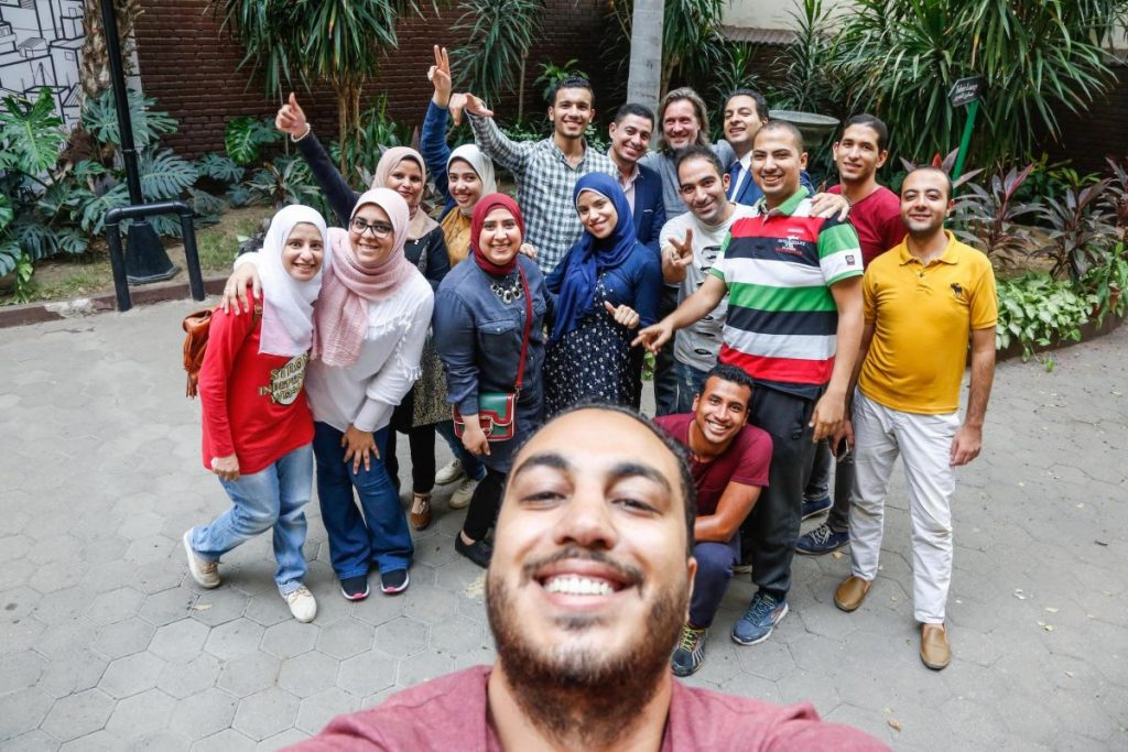 2018 10 20 Cairo Goethe Tahrir Workshop Participants Group Picture with Islam