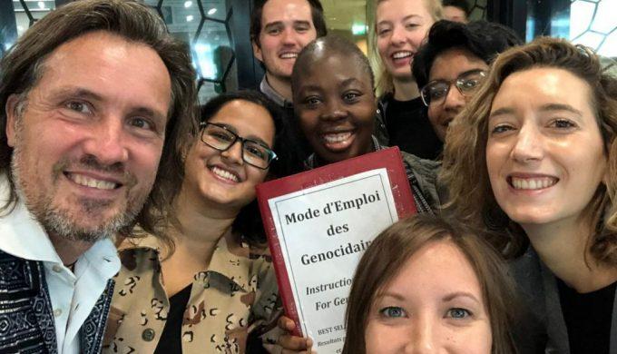 2018 11 06 Geneva Peace Week Panel Students Moritz Neubert Elena Butti Alexander