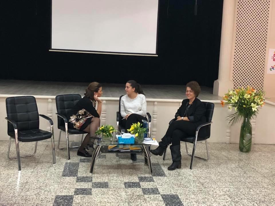 2018 11 22 Amman Tanweer Community Engagement Roundtable Panel Majd Muna Nisreen
