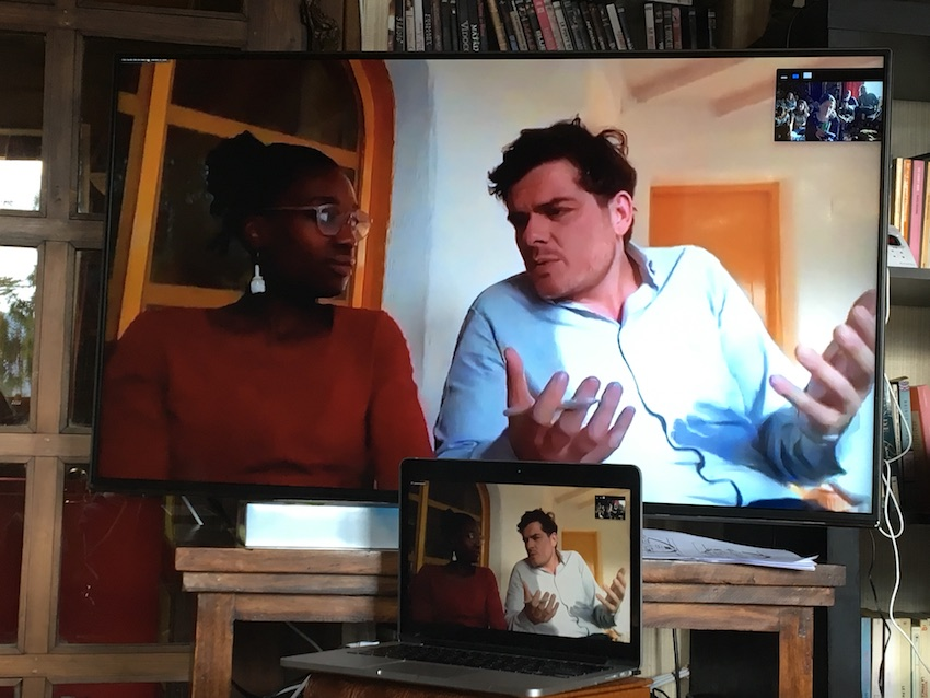 2019 04 08 Integral Development Course 2019 at H4H Zoom Call with Max Abouleish and Ama Nyarko Jones