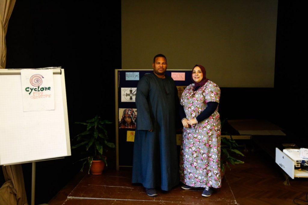 2019 06 14 Egypt Cairo GENEIUS Workshop Faten & Mohamed Senousy