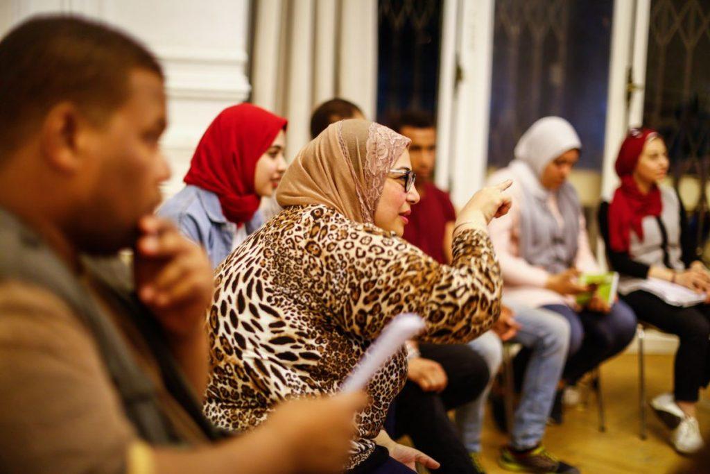 2019 06 14 Egypt Cairo GENEIUS Workshop Faten in Action