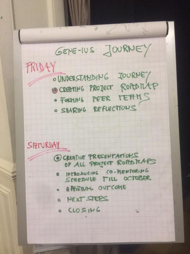 2019 06 14 Egypt Cairo GENEIUS Workshop Flipchart Schedule