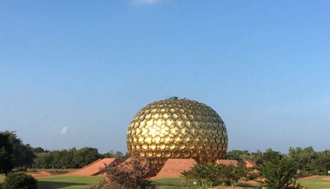 2020 02 India Auroville Education Workshop Matrimandir