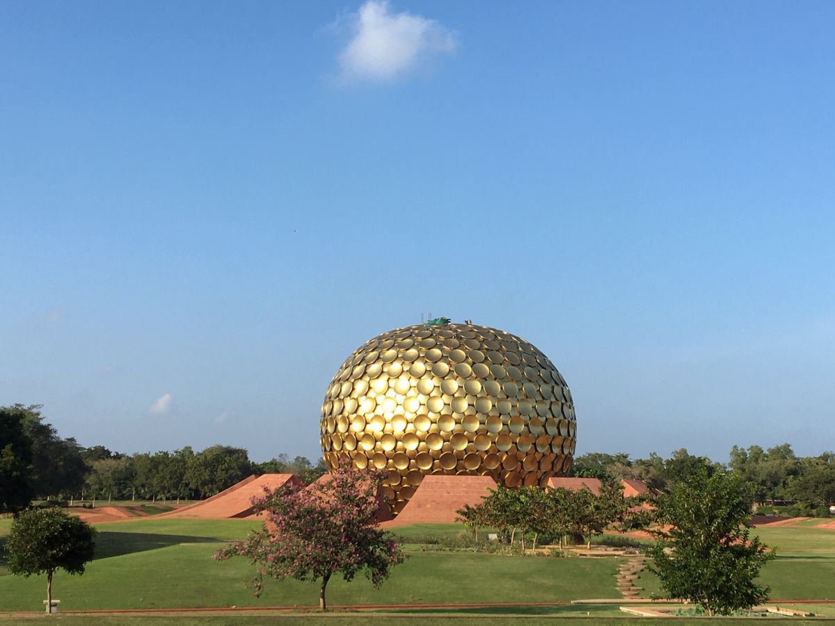 2020 02 India Auroville Education Workshop Matrimandir