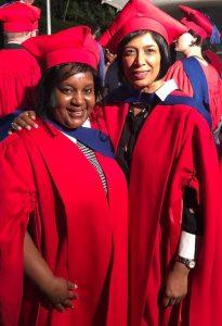 Premie Naicker graduating alongside TRANS4M Fellow Chipo Ndudzo
